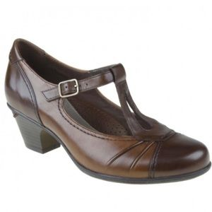 Earth Wanderlust Mary Jane Leather Heels Shoes